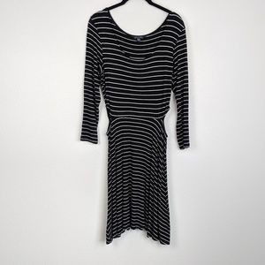AEO Soft & Sexy Striped Dress with Side Cut Outs